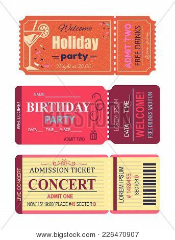 Welcome Holiday Party, Cocktail And Lemon Slice, Birthday Invitation, Free Drinks And Fun, Concert T