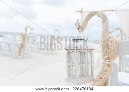 Wedding Ceremony Aisle And Arbor On The Beach