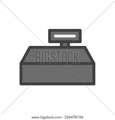 Illustration of cashier machine icon