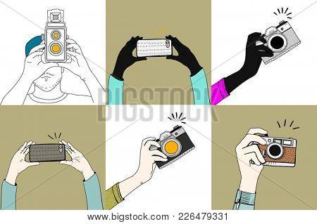 Illustration of snapping camera