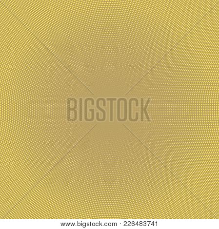 Geometric Modern Golden Pattern. Fine Ornament With Dotted Elements. Geometric Abstract Pattern