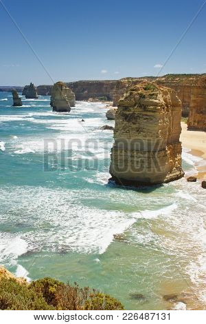Landscape Along The Great Ocean Road, Port Campbell National Park, Victoria, Australia
