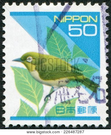 Japan - Circa 1994: A Stamp Printed In Japan, Depicts Japanese White-eye (zosterops Japonicus), Circ