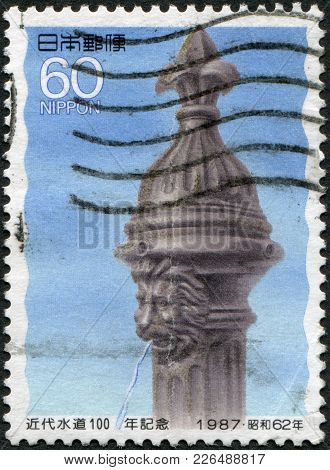 Japan - Circa 1987: A Stamp Printed In Japan, Dedicated To The 100th Anniversary Of Modern Plumbing,