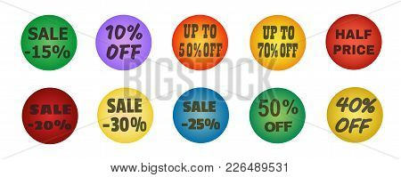 Balls With Promotional Offers, Seasonal Sale. Suitable For Discount Cards, Advertisement Leaflet, Co