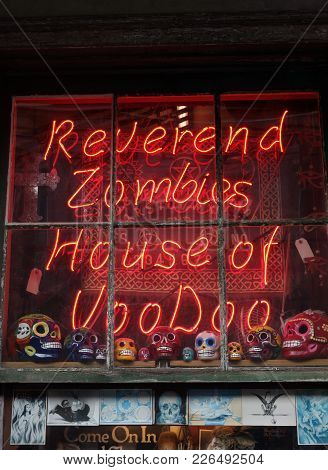 New Orleans,la/usa -03-19-2014: Reverend Zombies Voodoo Shop In The French Quarter Of New Orleans, L