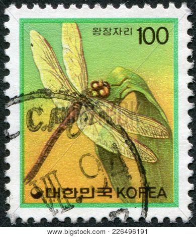 Korea - Circa 1991: A Stamp Printed In Korea, Is Depicted Emperor (dragonfly), Circa 1991