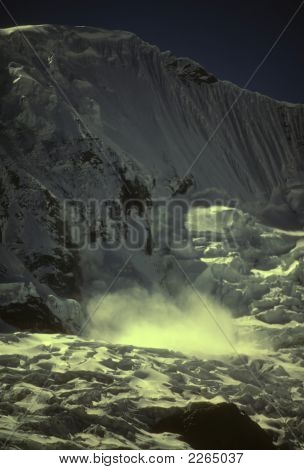 Avalanche On Copa Icewall