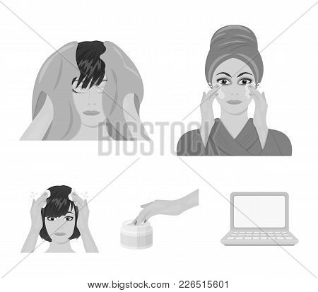 Cosmetic, Salon, Hygiene, And Other  Icon In Monochrome Style. Napkin, Hygienic, Hairdresser, Icons