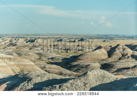 Landscape Photography Of Eroded Hills & Mountains At Badlands National Park