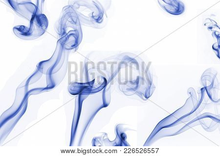 A Composed Shot Of Blue Colored Smoke.