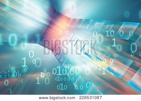 Abstract High-technology Data Transferring Background, Futuristic Digital Background.