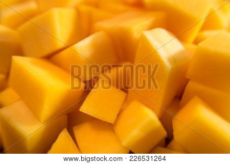 Chopped Butternut Squash Looks Like Mango Texture And Color