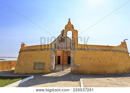 Peniche, Portugal - October 8, 2017: The Circular Bastion (baluarte Redondo) Within The Sixteenth Ce