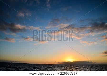 Sunset Landscape In Tenerife Canary Island Spain