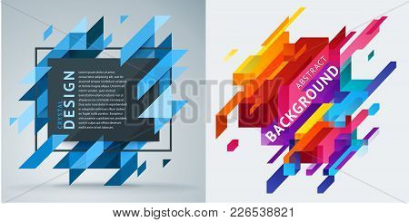 Set Of Abstract Backgrounds. Minimalist Design, Creative Concept, Modern Diagonal Abstract Backgroun