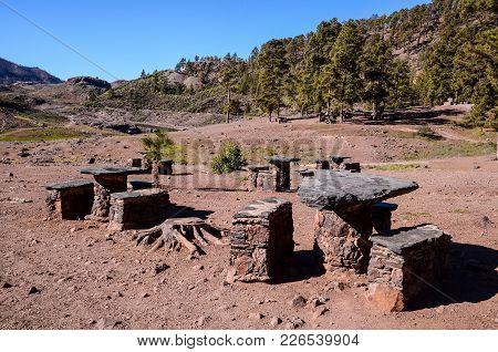 Picnic Recreational Area In Gran Canaria Canary Islands