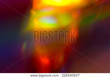 A Rainbow Of Colors And Light As A Background.