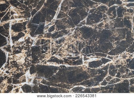 Closeup Surface Black Marble Wall Texture Background
