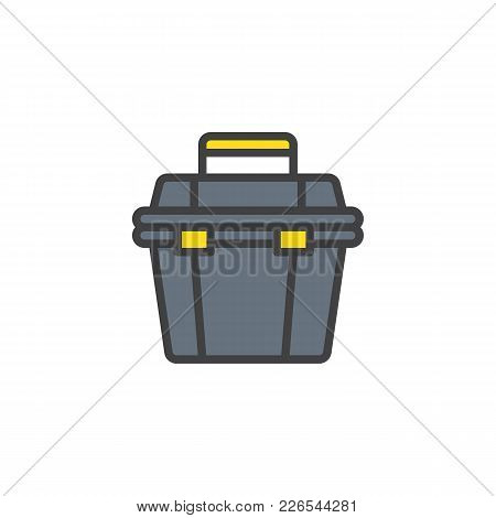 Toolbox Filled Outline Icon, Line Vector Sign, Linear Colorful Pictogram Isolated On White. Repair S