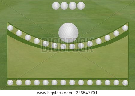 4 Ball Golf Fairway Green Golf Balls Open Text Area Template
