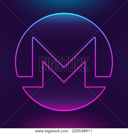 Monero Xmr Vector Outline Icon. Cryptocurrency, E-currency, Payment Crypto Currency, Blockchain Butt
