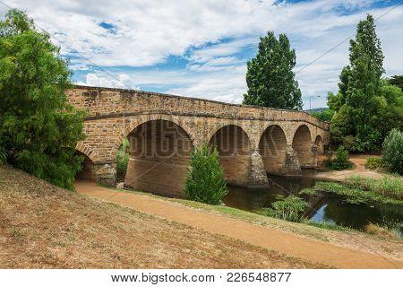 Oldest Stone Span Bridge In Australia. Richmond Bridge In Tasmania