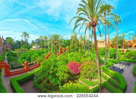 Panoramic View Of Big And Beautiful Garden - Gardens Of Royal Al