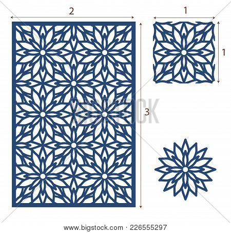 Vector Laser Cut Panel, The Seamless Eastern Pattern For Decorative Panel. Stencil Lattice Ornament.