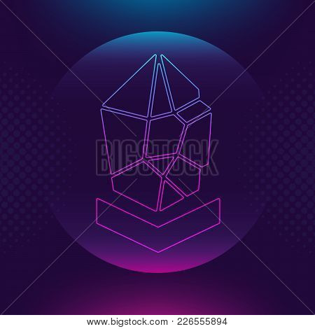 Lisk Lsk Vector Outline Icon. Cryptocurrency, E-currency, Payment Crypto Currency, Blockchain Button