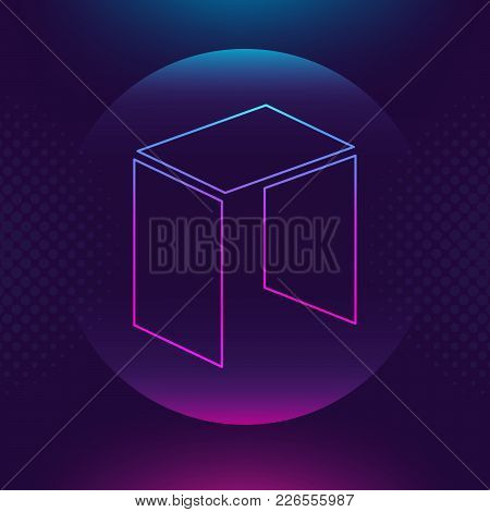 Neo Vector Outline Icon. Cryptocurrency, E-currency, Neo Payment Crypto Currency, Blockchain Button.