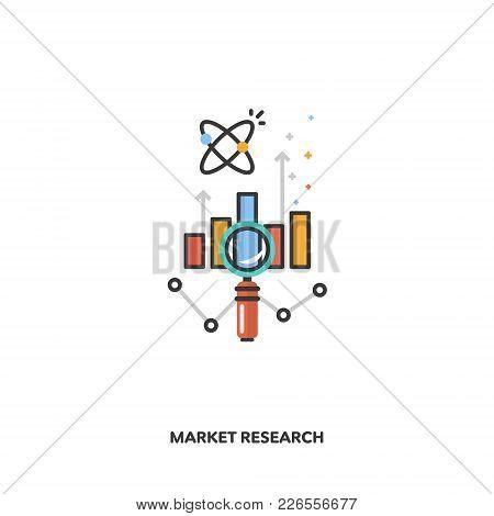 Market Research Concept Design. Vector Line Design