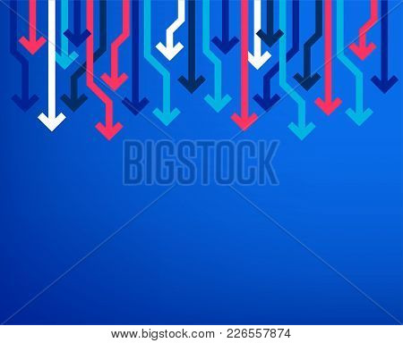 Sale Arrow Banner. Price Reduction Background. Big Sale Or Special Offer Poster. Market Clearance. M