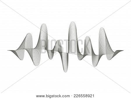 Vector Music Sound Wave Pattern On White Background. Audio Equalizer Illustration