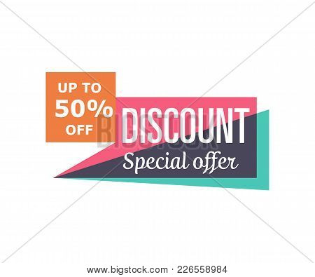Special Discount Price Isolated Sticker In Retro Minimalistic Style. Retail Marketing, New Advertisi