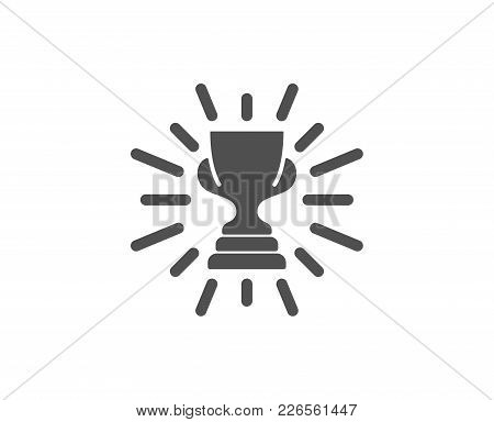 Award Cup Simple Icon. Winner Trophy Symbol. Sports Achievement Sign. Quality Design Elements. Class