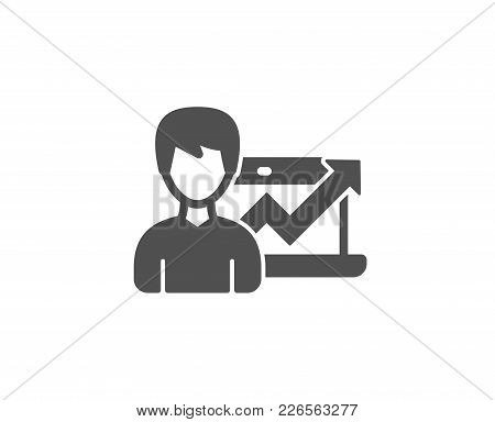 Business Results Simple Icon. Growth Chart Sign. Quality Design Elements. Classic Style. Vector