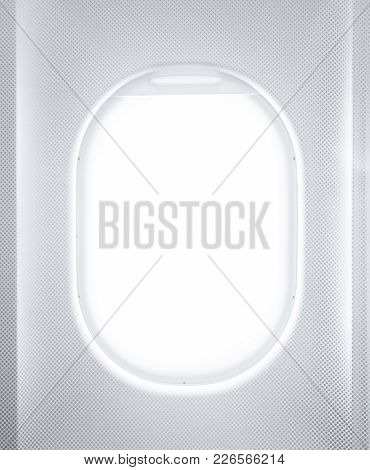 Concept: Porthole Of An Airplane Close Up