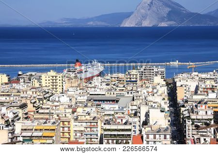 Patra, View Of The City And The Port From Above. Greece