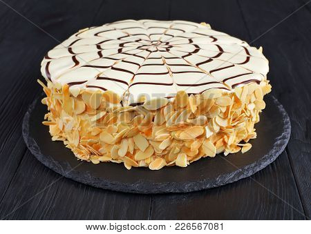 Classic Whole Esterhazy Torte, View From Front