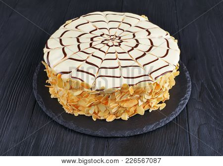 Whole Esterhazy Torte, Side View From Above