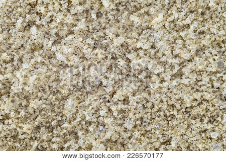 Natural River Sand Close-up. Large Pure Grains Of Sand.