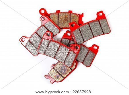 Brake Pad. Close Up. Isolated On A White Background.
