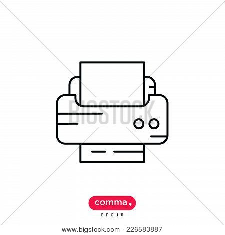 Printer Icon Isolated On White Background. Printer Icon Modern Symbol For Graphic And Web Design. Fa