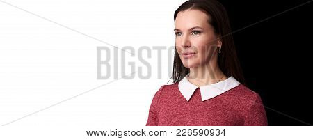 Portrait Of Young Beautiful Cute Cheerful Girl