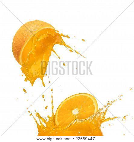 Orange Juice Drop And Splash, Citrus Fruit