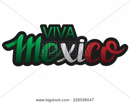 Mexico Hand Drawn Lettering Design. Vector Illustration Perfect For Advertising, Poster, Announcemen