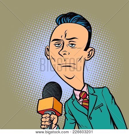 Calm Neutral Reporter Correspondent Journalist Male. Television And Radio, Internet Broadcasting. Co