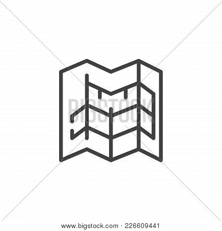 Blueprint Outline Icon. Linear Style Sign For Mobile Concept And Web Design. Architecture Simple Lin