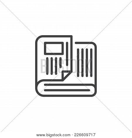 Newspaper Outline Icon. Linear Style Sign For Mobile Concept And Web Design. News Simple Line Vector